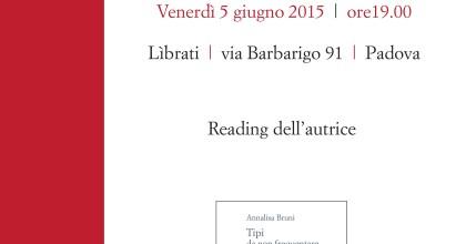 Tipi da non frequentare: Reading di Annalisa Bruni