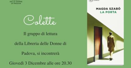 Prossimo incontro Colette: con Magda Szabò