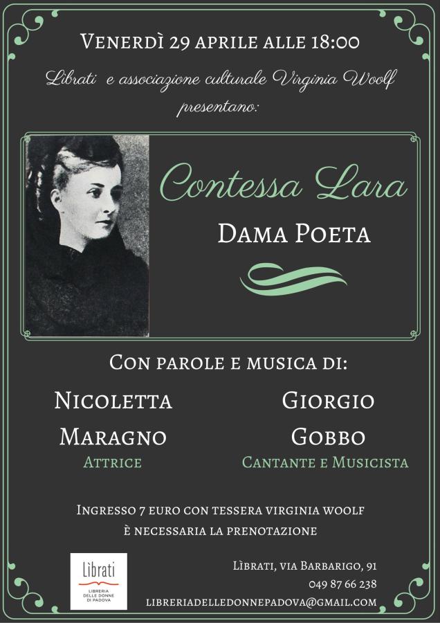 Contessa Lara. Dama Poeta
