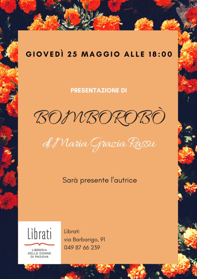 """Presentazione di """"Bomborobò"""" di Maria Grazia Rassu"""