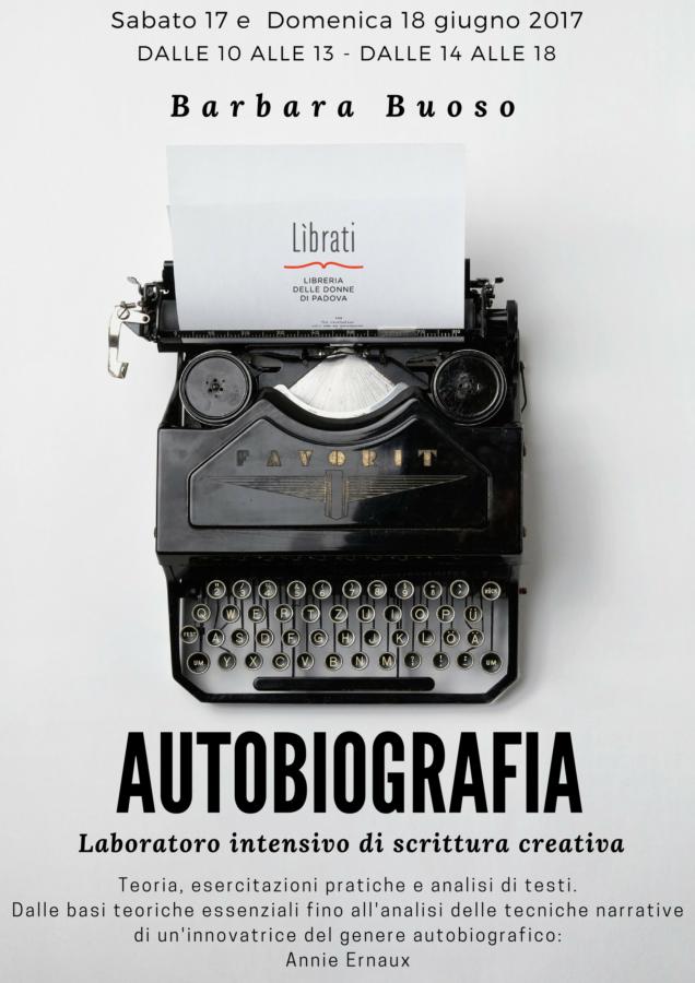 """""""Autobiografia"""": laboratorio intensivo di scrittura creativa"""