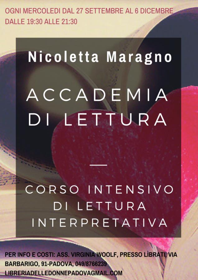 Accademia di lettura con Nicoletta Maragno- primo incontro