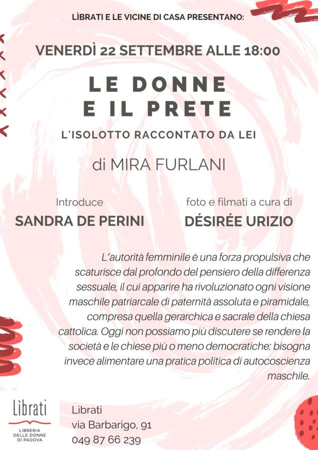 """""""Le donne e il prete"""" di Mira Furlani"""