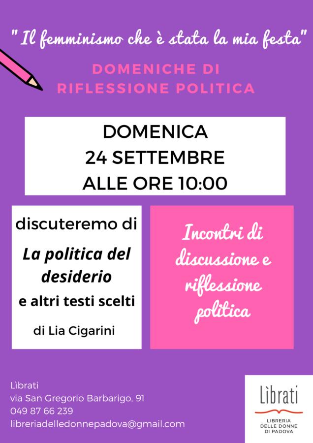 """""""Il femminismo che è stata la mia festa"""": Lia Cigarini"""