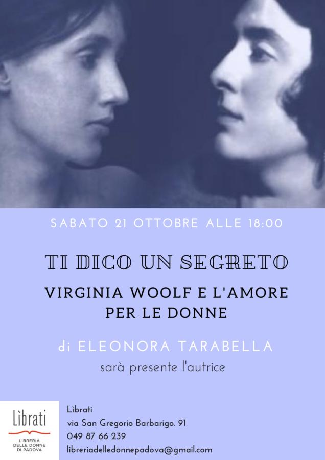 """Presentazione di """"Ti dico un segreto: Virginia Woolf e l'amore per le donne"""""""