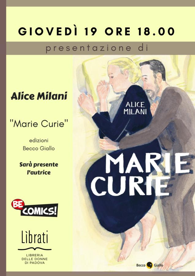 """""""Marie Curie"""" di Alice Milani"""
