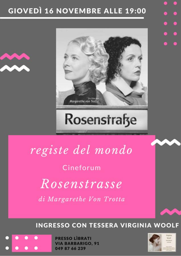 Cineforum: Rosenstrasse di Margarethe von Trotta
