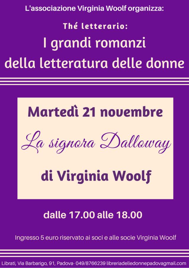 """Thé letterario """"La signora Dalloway"""" di Virginia Woolf"""