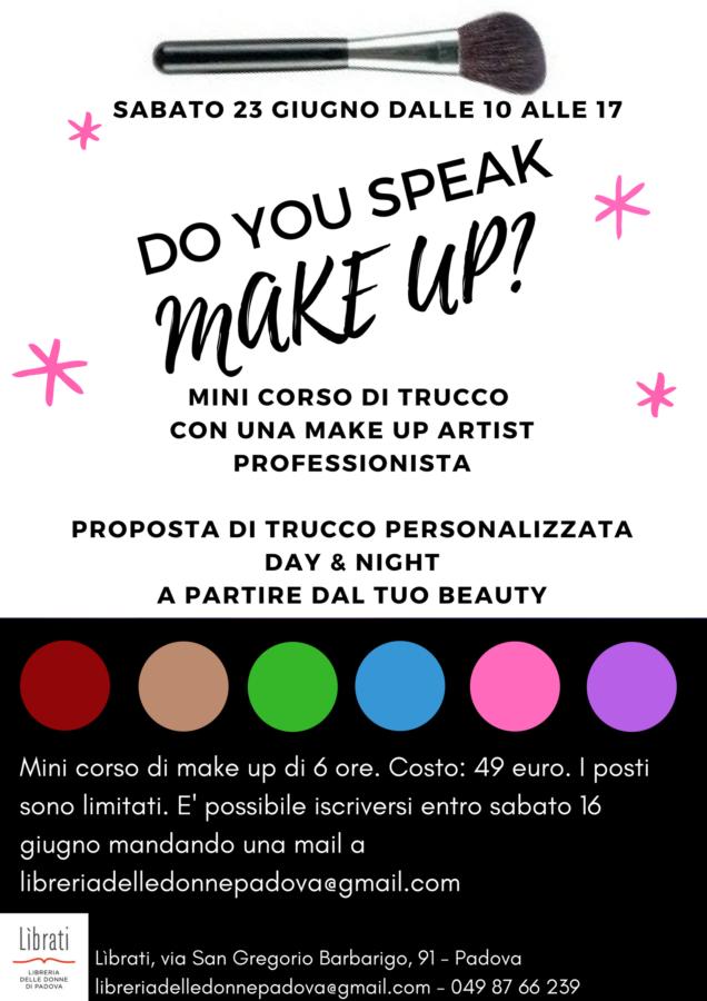 Do you speak make up?
