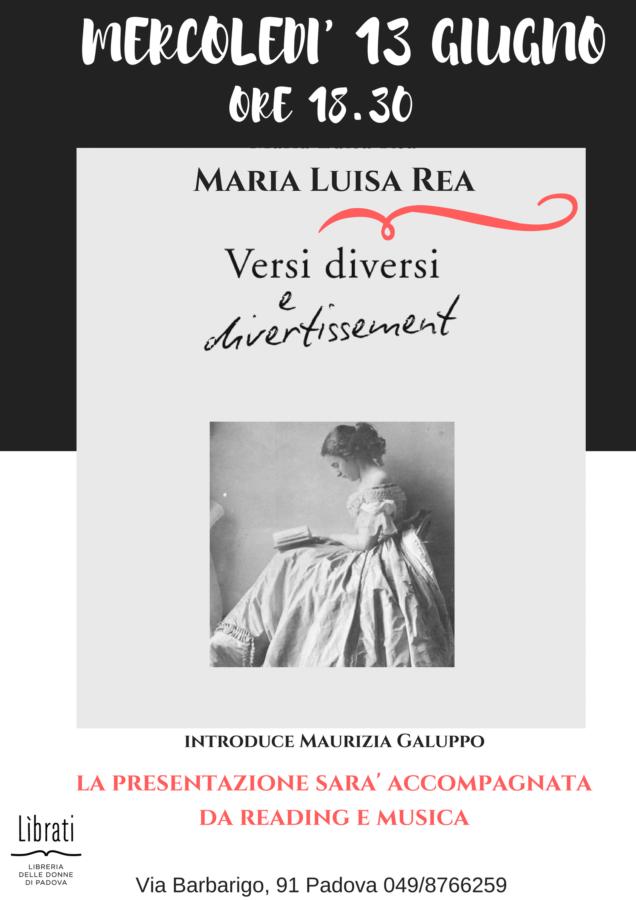 Versi diversi e divertissement di Maria Luisa Rea