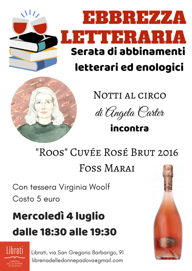 "Ebbrezza letteraria: Angela Carter incontra ""Roös"" Foss Marai"
