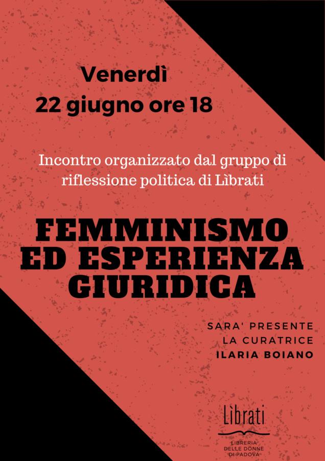 Femminismo ed esperienza giuridica