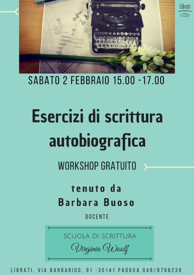 Esercizi di scrittura autobiografica - workshop gratuito