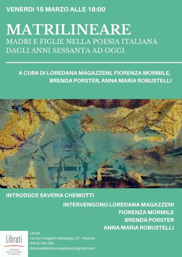 Matrilineare. Madri e figlie nella poesia italiana