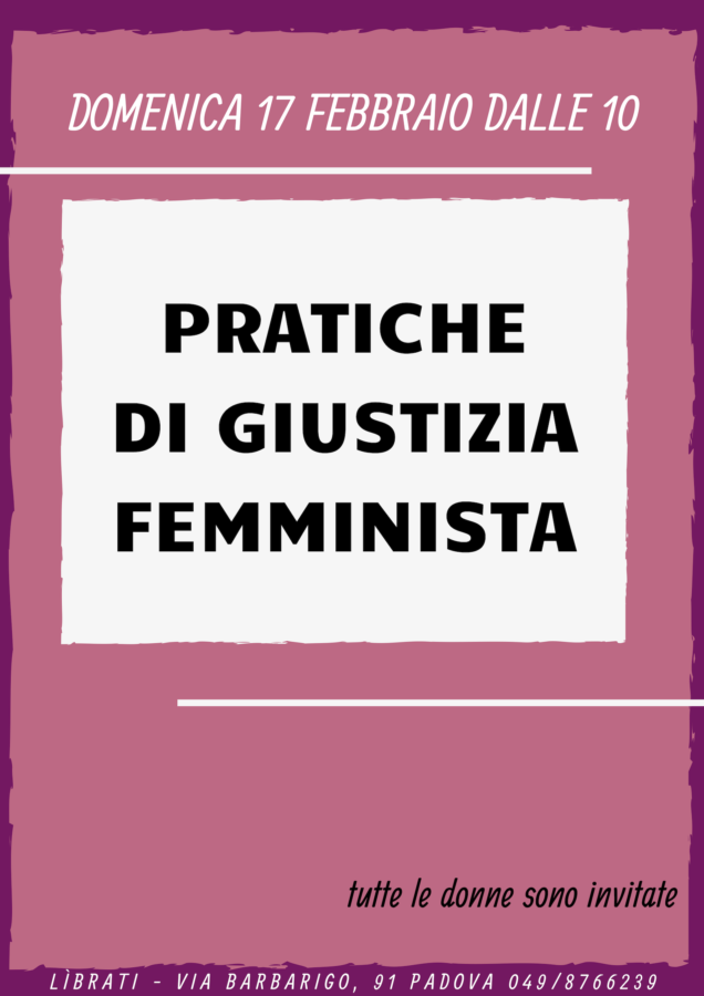 Pratiche di giustizia femminista - incontro di febbraio