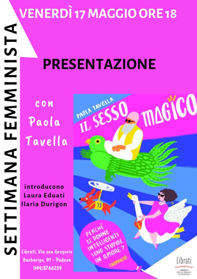 """""""Il sesso magico"""" di Paola Tavella"""