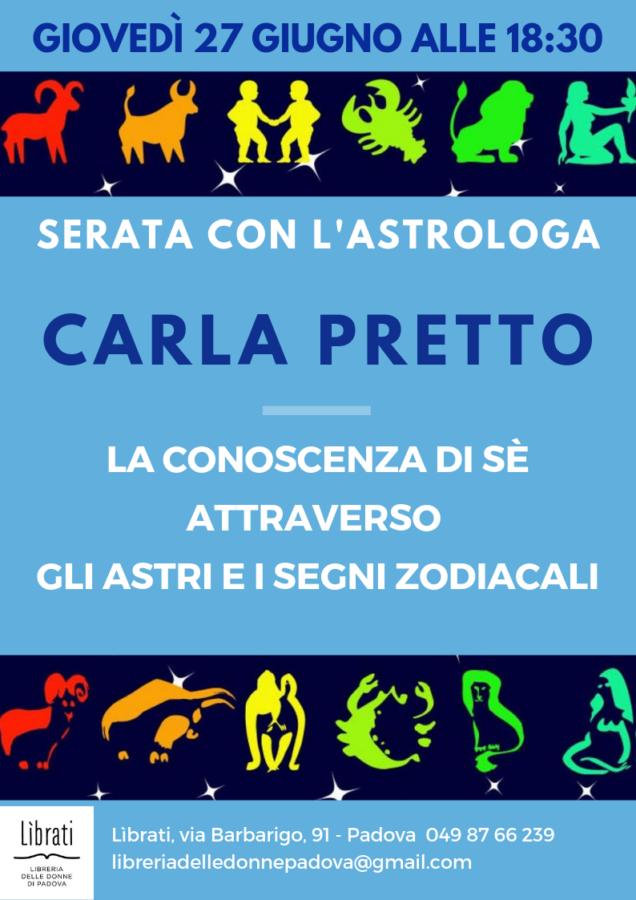 Serata con l'astrologa Carla Pretto