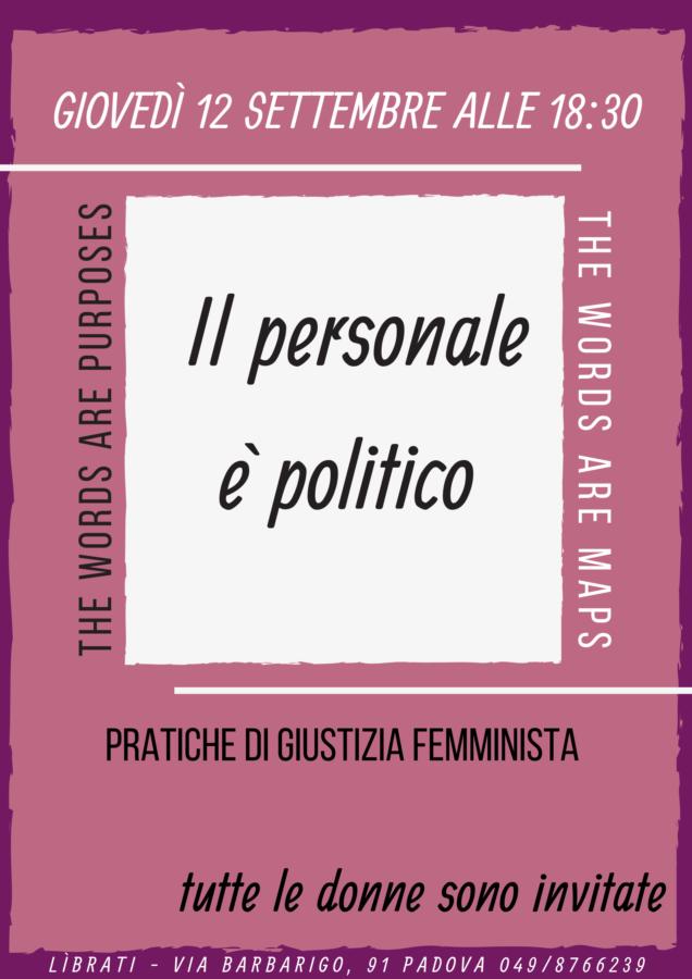 Il personale è politico. Pratiche di giustizia femminista