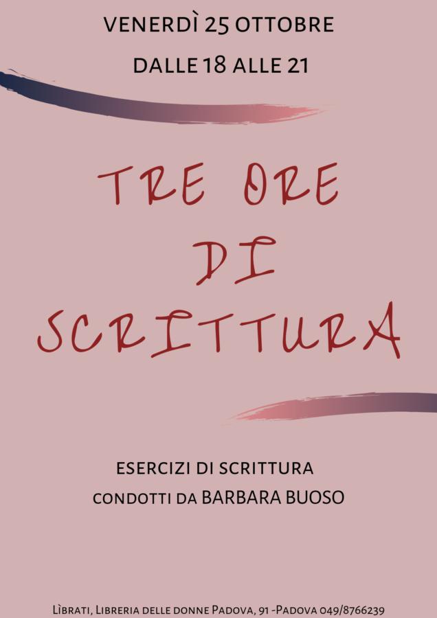 Tre ore di scrittura con Barbara Buoso