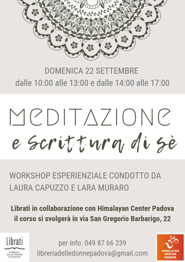 Meditazione e scrittura di sè