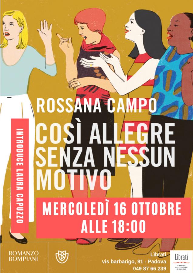 """Rossana Campo, """"Così allegre senza nessun motivo"""""""