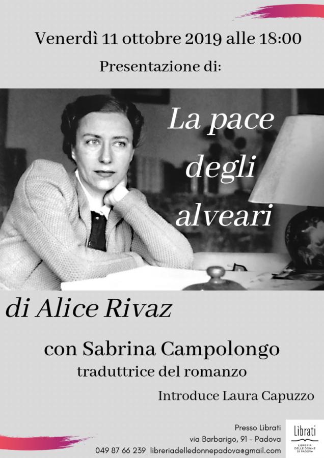 """""""La pace degli alveari"""" di Alice Rivaz"""