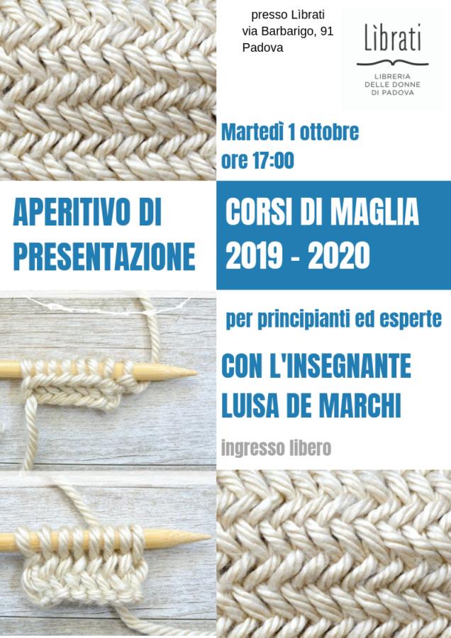 Presentazione Corsi di maglia 2019/2020