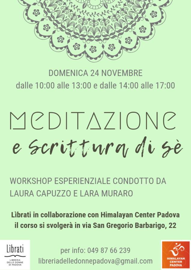 Meditazione e scrittura di sè. Workshop esperienziale