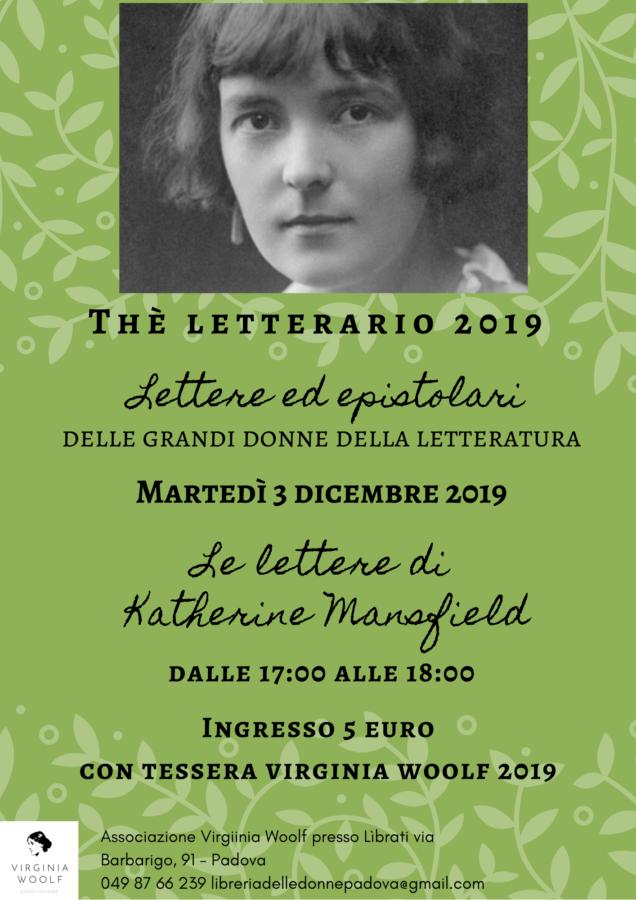 Thé letterario: le lettere di Katherine Mansfield