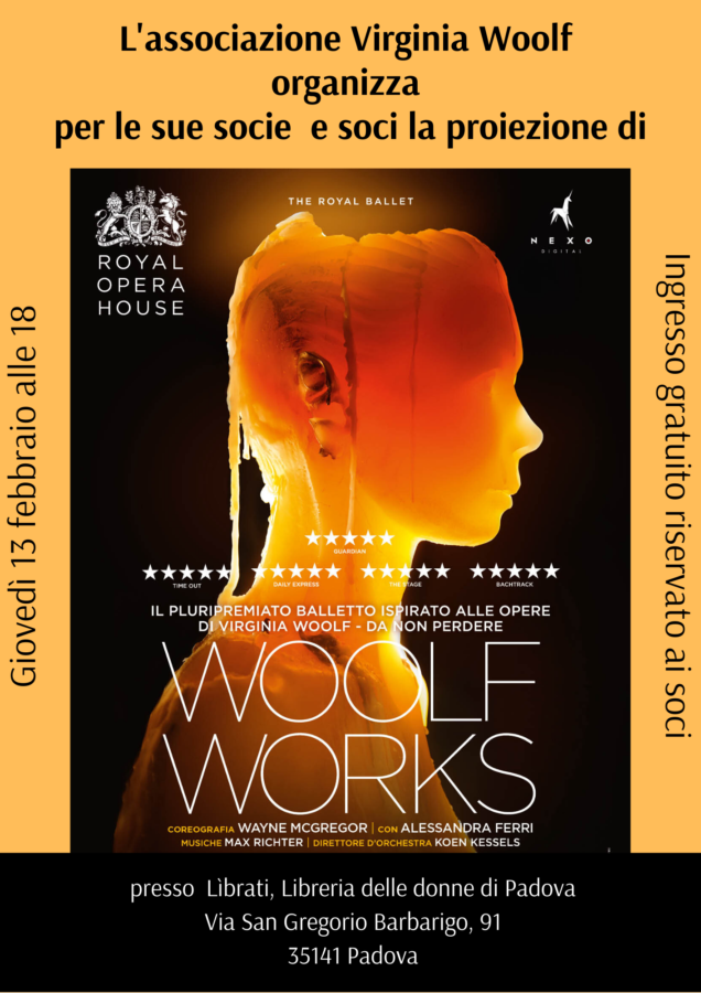 """Proiezione di """"Woolf Works"""""""
