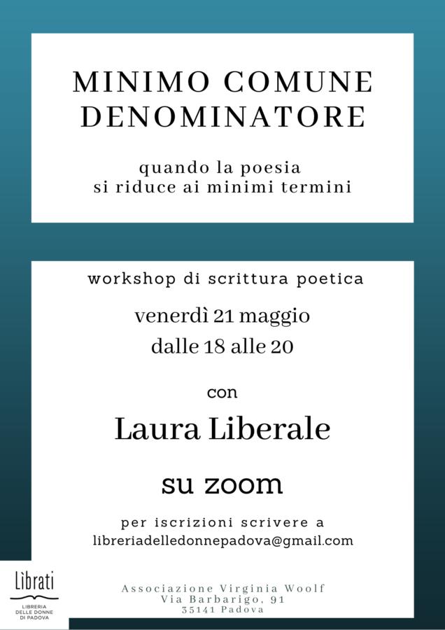 Minimo comune denominatore: workshop di scrittura poetica