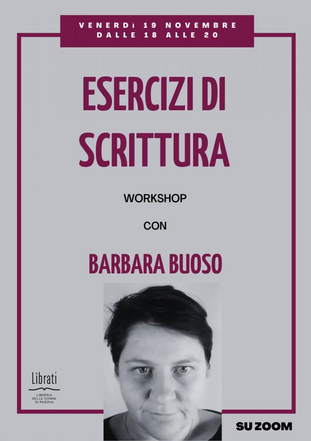 Esercizi di scrittura con Barbara Buoso